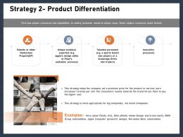 Strategy 2 Product Differentiation Forces Ppt Powerpoint Presentation Show Samples