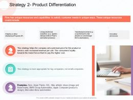 Strategy 2 Product Differentiation Talented M1829 Ppt Powerpoint Presentation Show