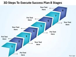 Strategy 3d Steps To Execute Success Plan 8 Stages Powerpoint Templates 0522