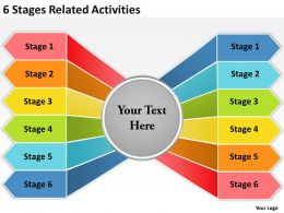 Strategy 6 Stages Related Activities Powerpoint Templates PPT Backgrounds For Slides