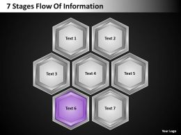 Strategy 7 Stages Flow Of Information Powerpoint Templates PPT Backgrounds For Slides