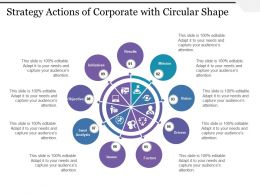 Strategy Actions Of Corporate With Circular Shape