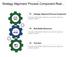 Strategy Alignment Process Component Real Estate Resources Organizational Requirements