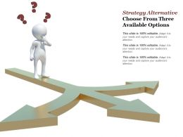 Strategy Alternative Choose From Three Available Options