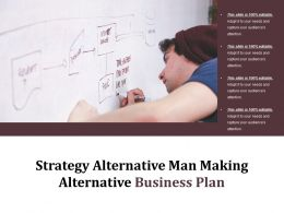 Strategy Alternative Man Making Alternative Business Plan