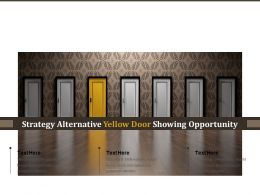 Strategy Alternative Yellow Door Showing Opportunity