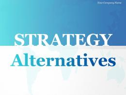 Strategy Alternatives Brainstorming Business Ideas And Options Analysis