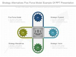 Strategy Alternatives Five Force Model Example Of Ppt Presentation