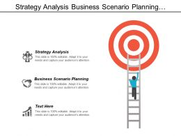 Strategy Analysis Business Scenario Planning Strategic Competitive Advantage Cpb