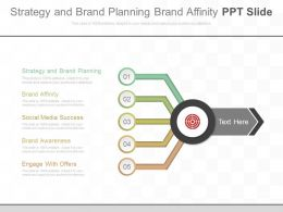 Strategy And Brand Planning Brand Affinity Ppt Slide