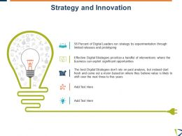 Strategy And Innovation Idea Bulb Management Ppt Powerpoint Styles Designs