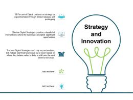 Strategy And Innovation Idea Bulb Mangement Ppt Powerpoint Presentation Visuals