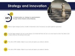 Strategy And Innovation Ppt Powerpoint Presentation Gallery Topics