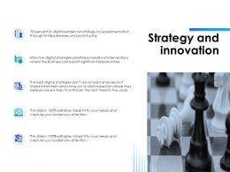 Strategy And Innovation Ppt Powerpoint Presentation Styles Mockup