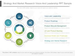 Strategy And Market Research Vision And Leadership Ppt Sample