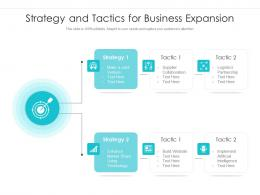 Strategy And Tactics For Business Expansion