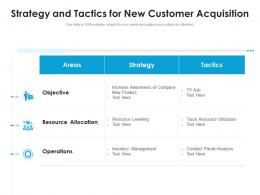 Strategy And Tactics For New Customer Acquisition
