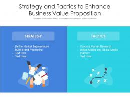 Strategy And Tactics To Enhance Business Value Proposition