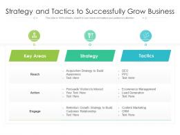 Strategy And Tactics To Successfully Grow Business