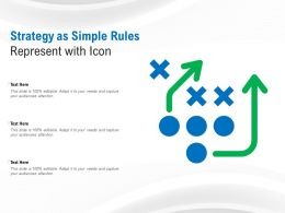 Strategy As Simple Rules Represent With Icon