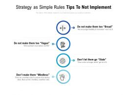 Strategy As Simple Rules Tips To Not Implement
