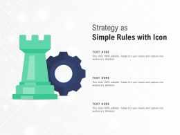 Strategy As Simple Rules With Icon