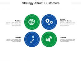 Strategy Attract Customers Ppt Powerpoint Presentation Infographics Shapes Cpb