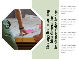 Strategy Brainstorming Idea Generation Implementation Image