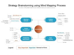 Strategy Brainstorming Using Mind Mapping Process