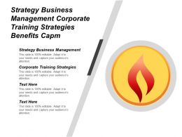 Strategy Business Management Corporate Training Strategies Benefits Capm Cpb