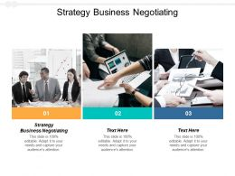 Strategy Business Negotiating Ppt Powerpoint Presentation Summary Maker Cpb