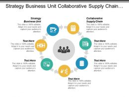 Strategy Business Unit Collaborative Supply Chain Supply Chain Personnel Cpb