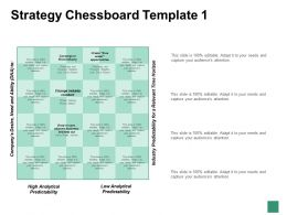 Strategy Chessboard Template High And Low Analytical Predictability
