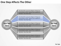 Strategy Consultant One Step Affects The Other Powerpoint Templates PPT Backgrounds For Slides