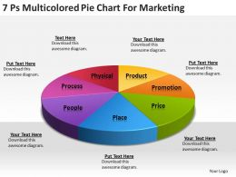 Strategy Consultants Pie Chart For Marketing Powerpoint Templates PPT Backgrounds Slides 0618