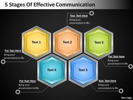 Strategy Consulting Business 5 Stages Of Effective Communication Powerpoint Templates