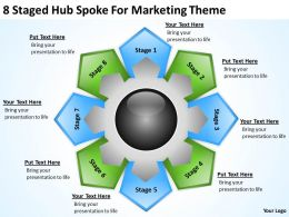 Strategy Consulting Business 8 Staged Hub Spoke For Marketing Theme Powerpoint Templates 0523