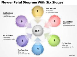 Strategy Consulting Business Flower Petal Diagram With Six Stages Powerpoint Templates 0523