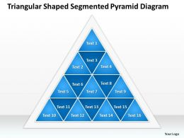 Strategy Consulting Business Pyramid Diagram Powerpoint Templates PPT Backgrounds For Slides 16 Stages 0530