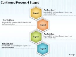 Strategy Consulting Continued Process 4 Stages Powerpoint Templates PPT Backgrounds For Slides