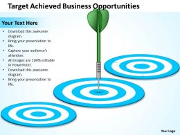 Strategy Consulting Target Achieved Business Opportunities Powerpoint Slides 0528