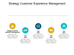 Strategy Customer Experience Management Ppt Powerpoint Presentation Pictures Cpb
