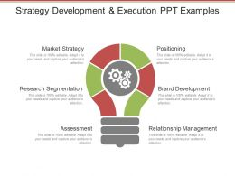 Strategy Development And Execution Ppt Examples