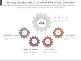 Strategy Development Framework Ppt Slides Download