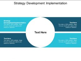 Strategy Development Implementation Ppt Powerpoint Presentation Show Clipart Cpb