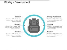 Strategy Development Ppt Powerpoint Presentation Sample Cpb