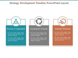 Strategy Development Timeline Powerpoint Layout