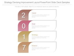Strategy Devising Improvement Layout Powerpoint Slide Deck Samples