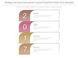 Strategy Devising Improvement Layout Powerpoint Slide Deck Samples