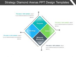 Strategy Diamond Arenas Ppt Design Templates